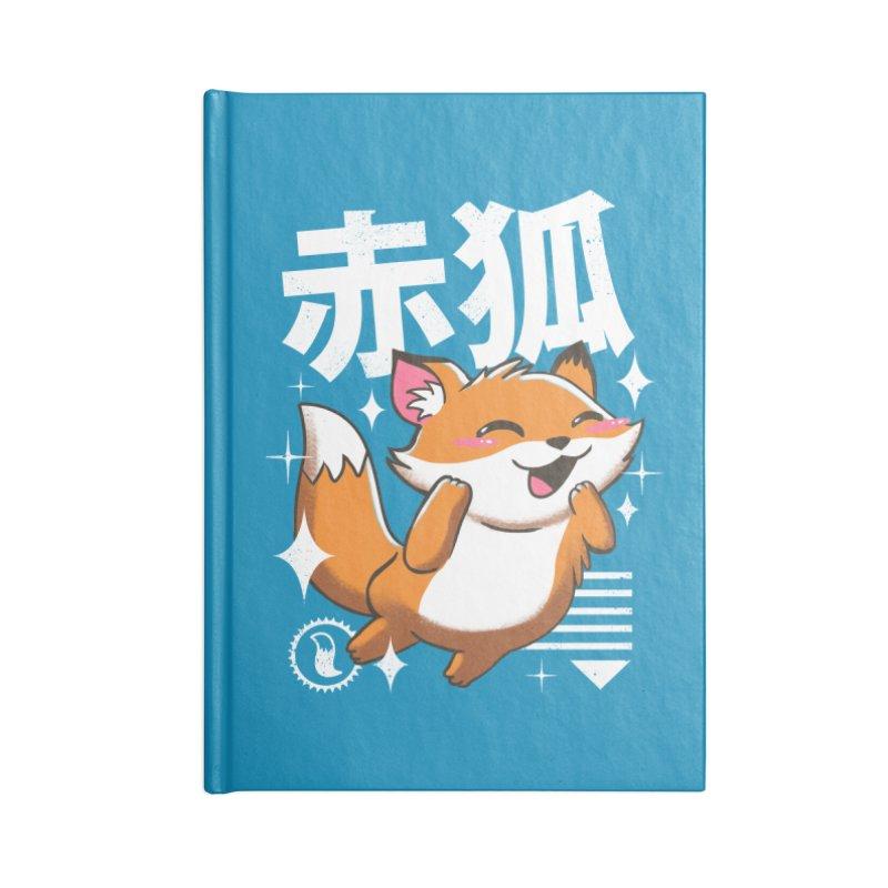 Kawaii Fox Accessories Notebook by vincenttrinidad's Artist Shop