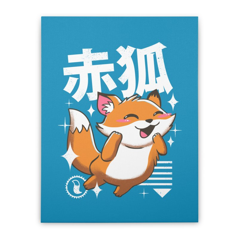 Kawaii Fox Home Stretched Canvas by vincenttrinidad's Artist Shop