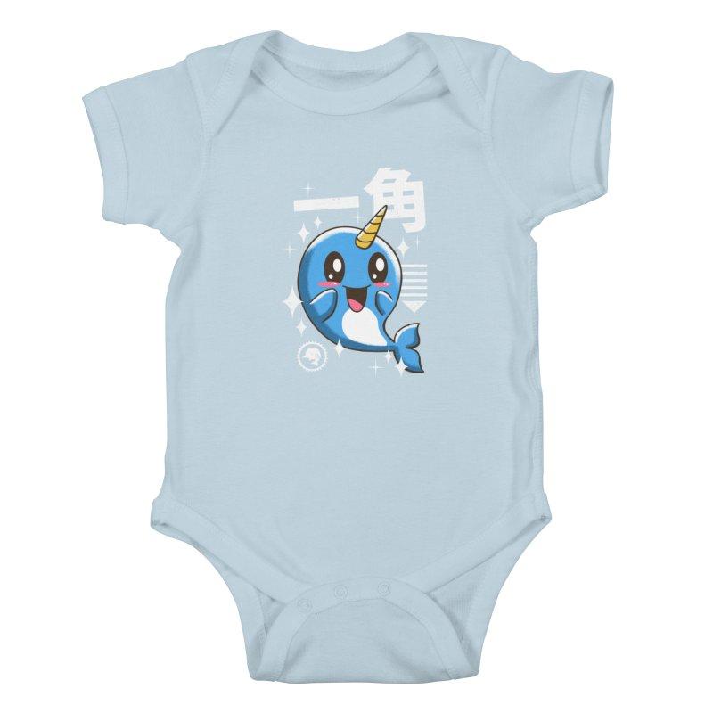 Kawaii Narwhal Kids Baby Bodysuit by vincenttrinidad's Artist Shop
