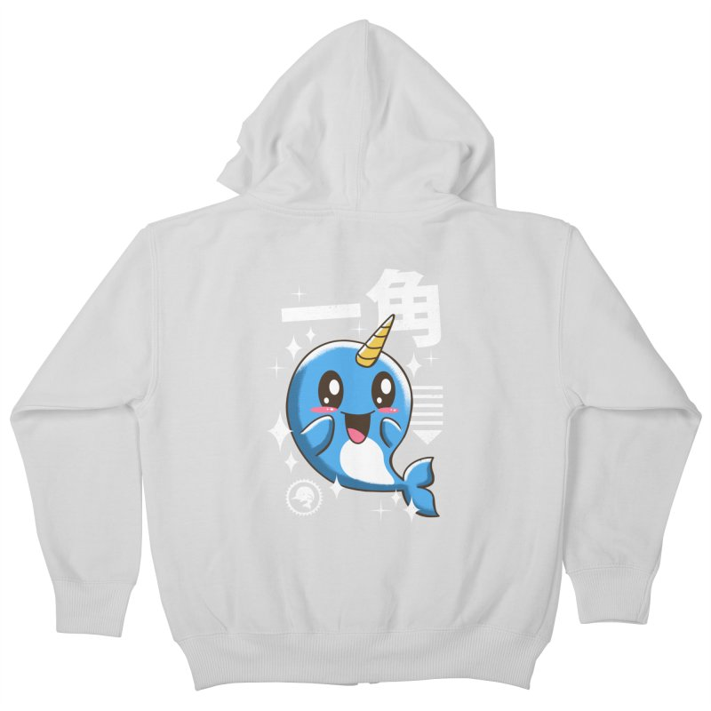 Kawaii Narwhal Kids Zip-Up Hoody by vincenttrinidad's Artist Shop