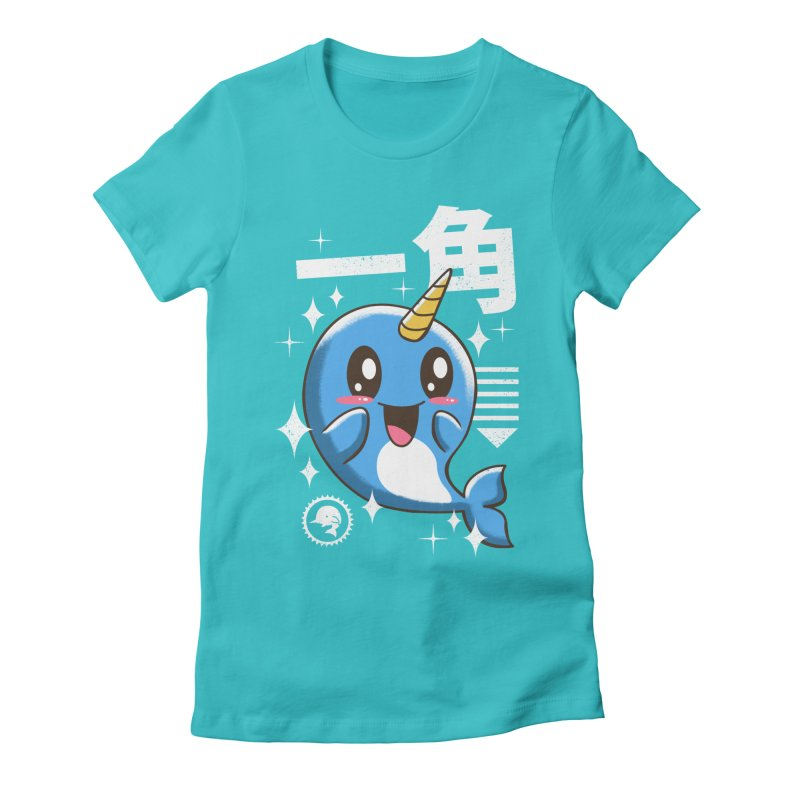 Kawaii Narwhal Women's Fitted T-Shirt by vincenttrinidad's Artist Shop