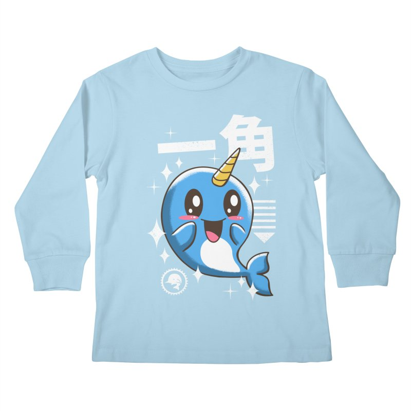 Kawaii Narwhal Kids Longsleeve T-Shirt by vincenttrinidad's Artist Shop