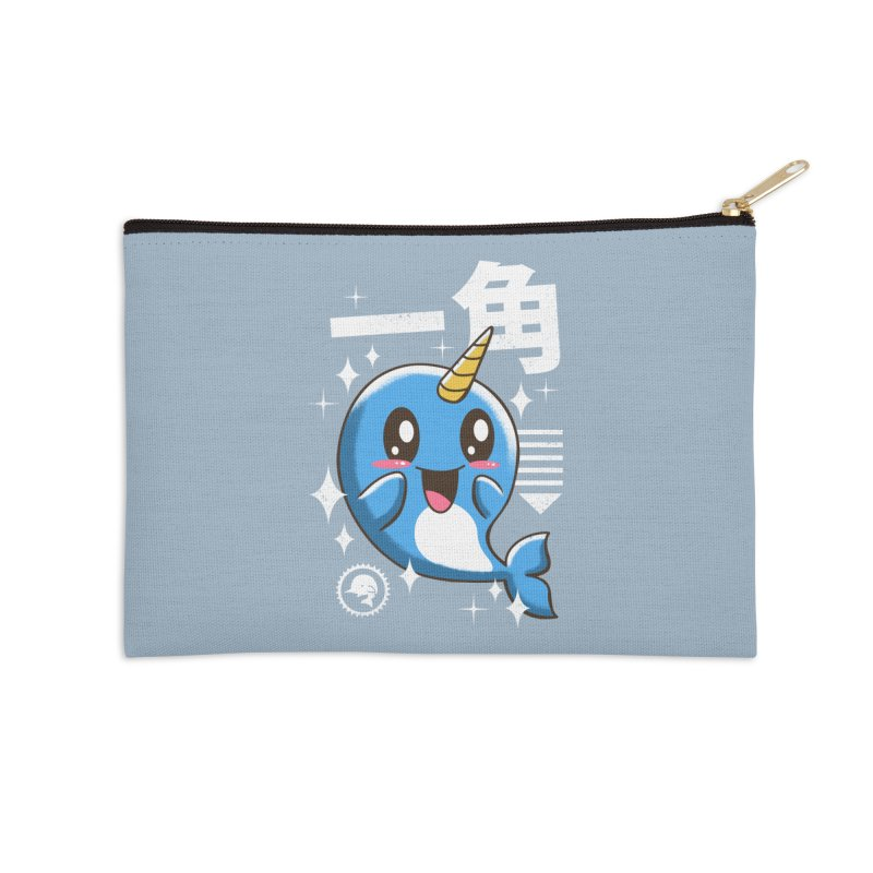 Kawaii Narwhal Accessories Zip Pouch by vincenttrinidad's Artist Shop