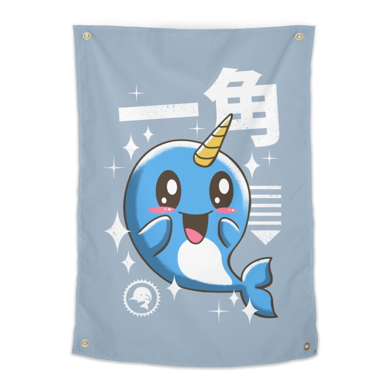Kawaii Narwhal Home Tapestry by vincenttrinidad's Artist Shop