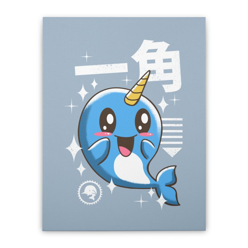 Kawaii Narwhal Home Stretched Canvas by vincenttrinidad's Artist Shop