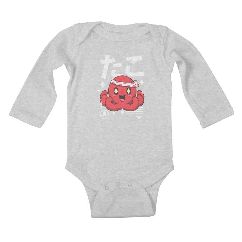 Kawaii Octopus Kids Baby Longsleeve Bodysuit by vincenttrinidad's Artist Shop