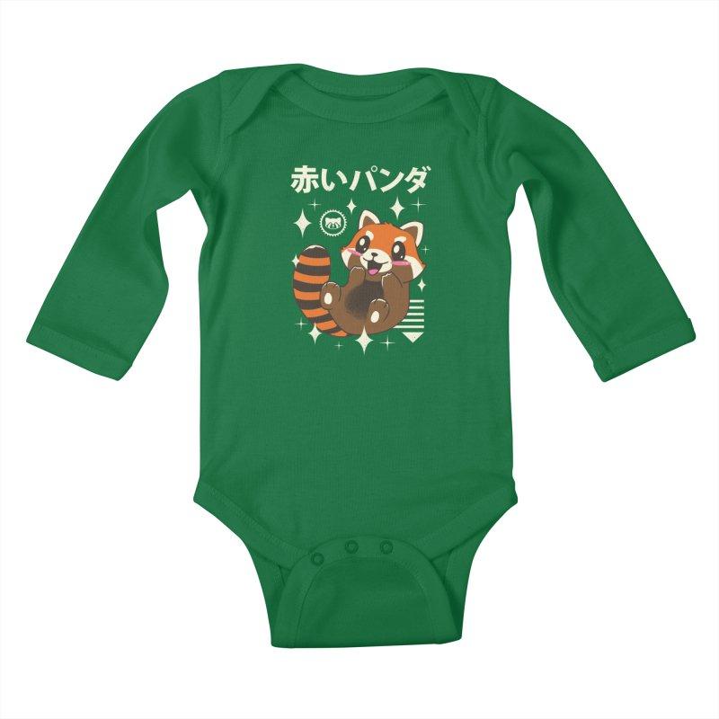 Kawaii Red Panda Kids Baby Longsleeve Bodysuit by vincenttrinidad's Artist Shop