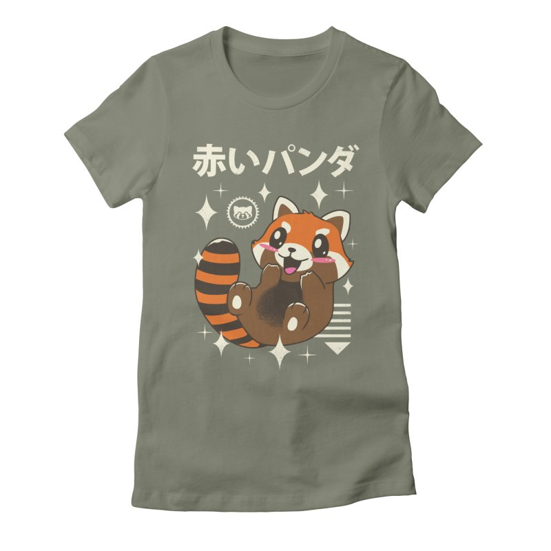 Kawaii Red Panda Women's Fitted T-Shirt by vincenttrinidad's Artist Shop