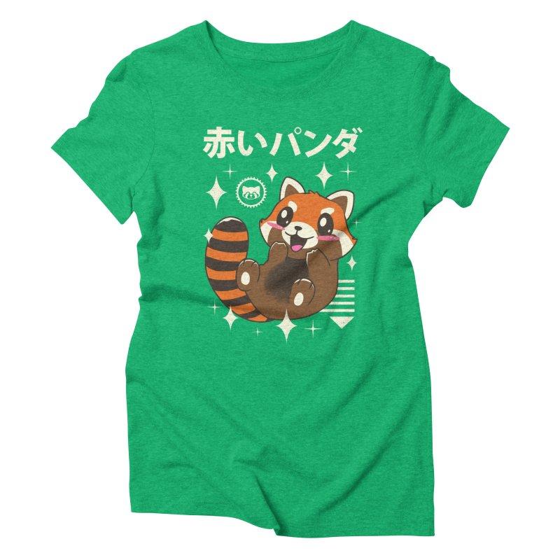 Kawaii Red Panda Women's Triblend T-Shirt by vincenttrinidad's Artist Shop