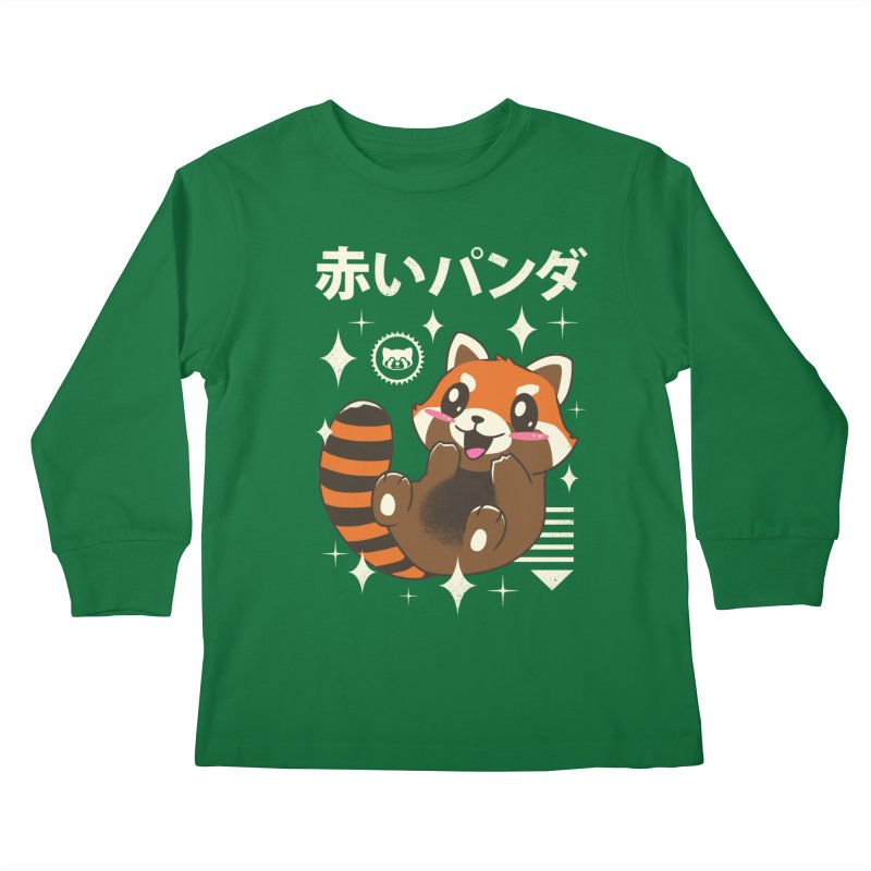 Kawaii Red Panda Kids Longsleeve T-Shirt by vincenttrinidad's Artist Shop