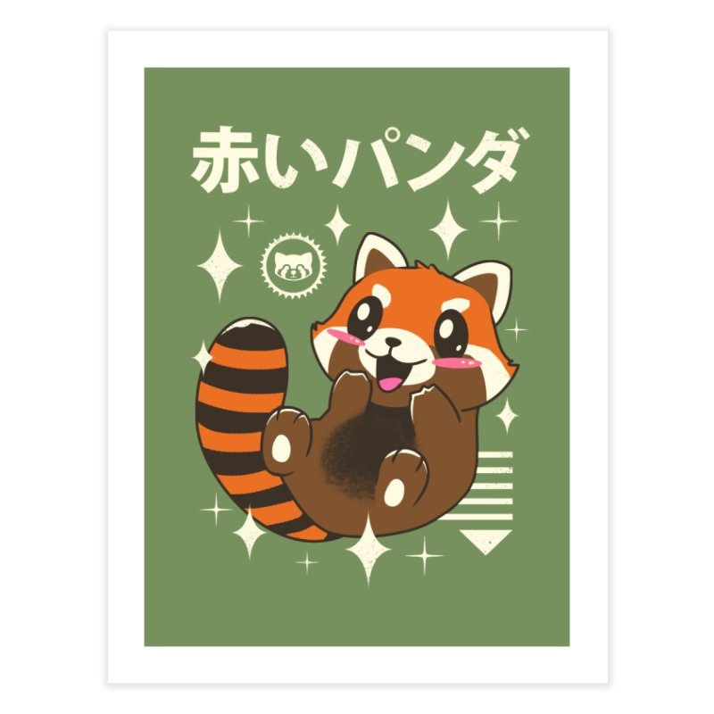 Kawaii Red Panda Home Fine Art Print by vincenttrinidad's Artist Shop