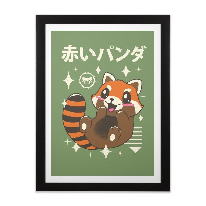 Kawaii Red Panda Home Framed Fine Art Print by vincenttrinidad's Artist Shop