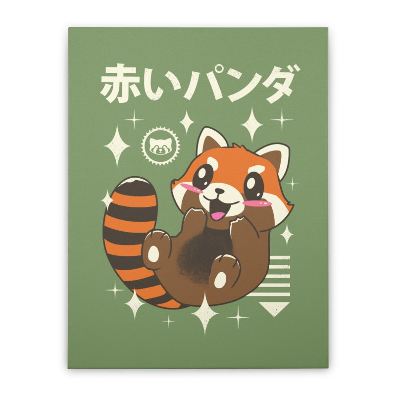 Kawaii Red Panda Home Stretched Canvas by vincenttrinidad's Artist Shop