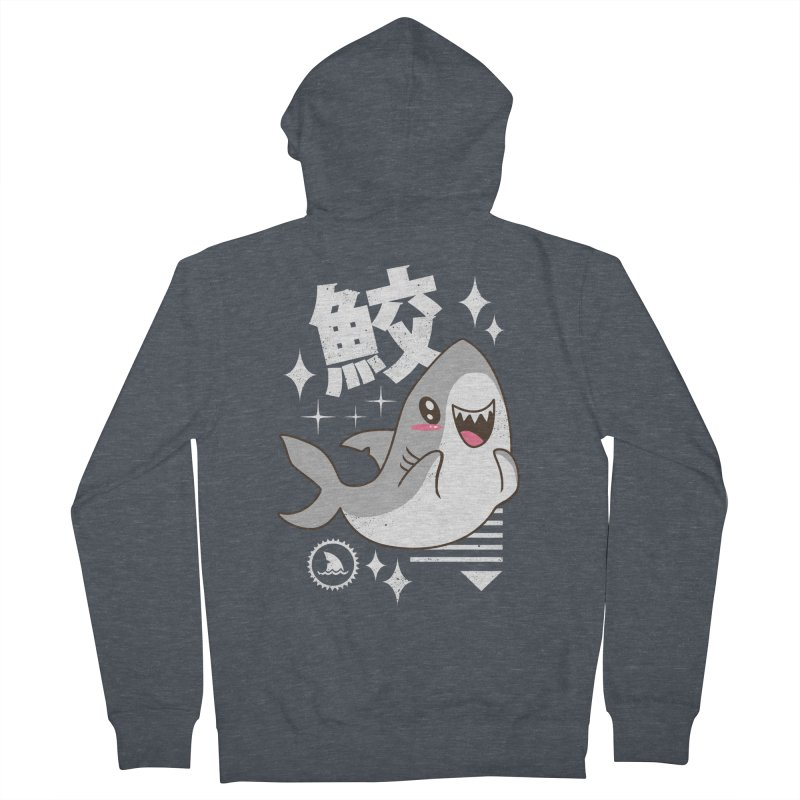 Kawaii Shark Women's Zip-Up Hoody by vincenttrinidad's Artist Shop