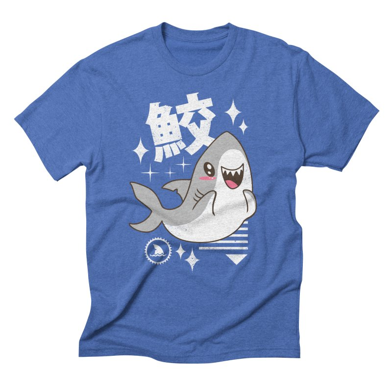 Kawaii Shark Men's Triblend T-Shirt by vincenttrinidad's Artist Shop