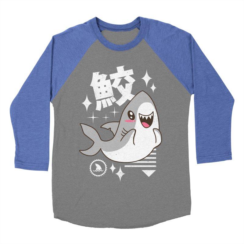 Kawaii Shark Women's Baseball Triblend T-Shirt by vincenttrinidad's Artist Shop