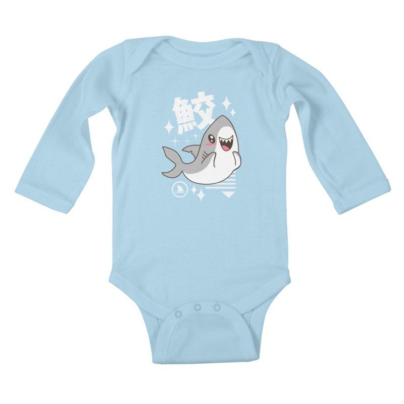 Kawaii Shark Kids Baby Longsleeve Bodysuit by vincenttrinidad's Artist Shop