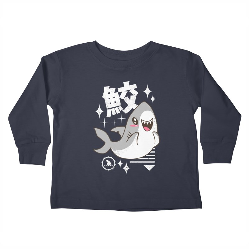Kawaii Shark Kids Toddler Longsleeve T-Shirt by vincenttrinidad's Artist Shop