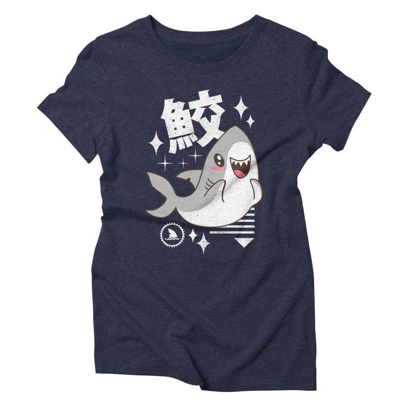 Kawaii Shark Women's Triblend T-Shirt by vincenttrinidad's Artist Shop