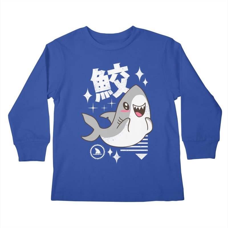 Kawaii Shark Kids Longsleeve T-Shirt by vincenttrinidad's Artist Shop