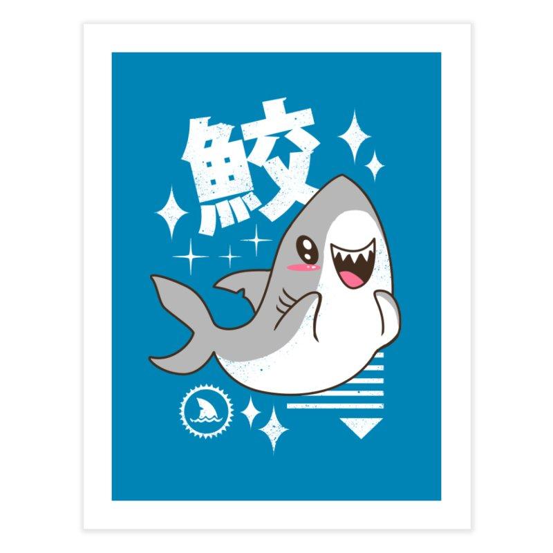 Kawaii Shark Home Fine Art Print by vincenttrinidad's Artist Shop