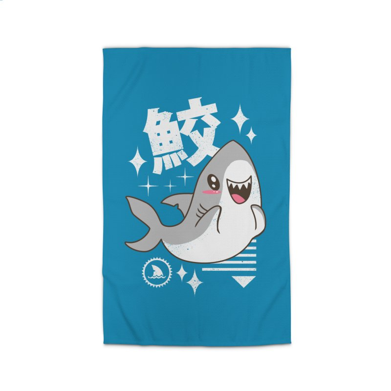 Kawaii Shark Home Rug by Vincent Trinidad Art