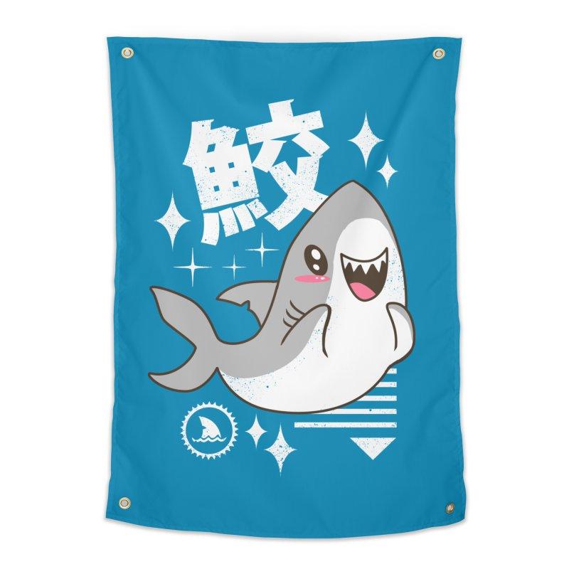 Kawaii Shark Home Tapestry by vincenttrinidad's Artist Shop