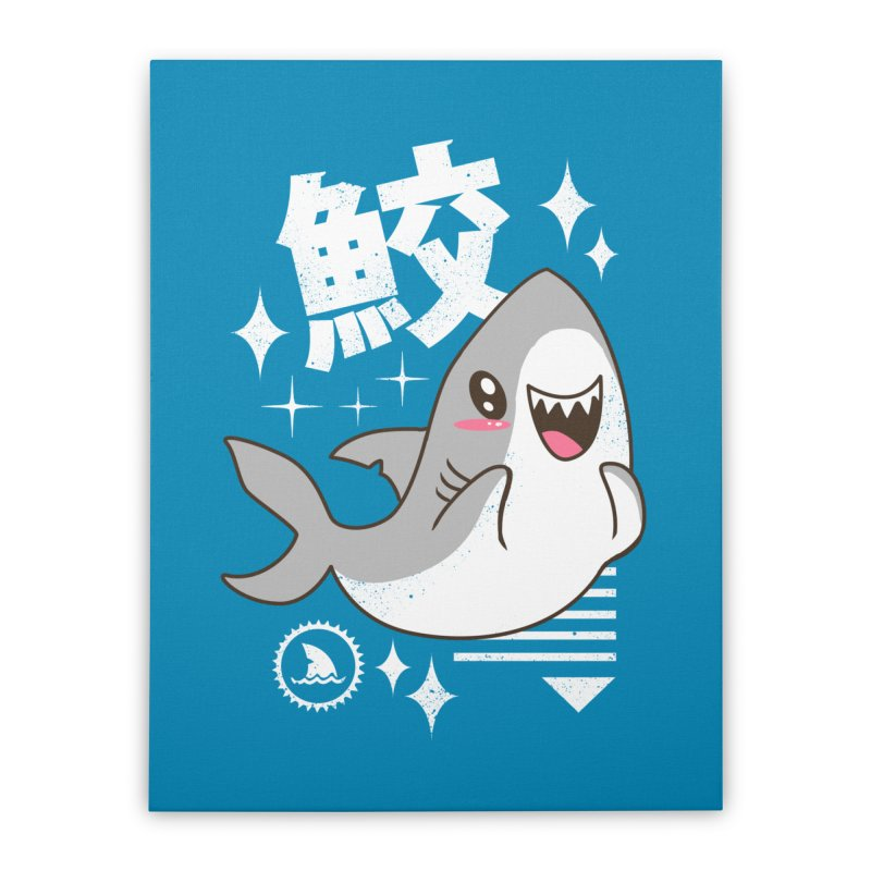 Kawaii Shark Home Stretched Canvas by vincenttrinidad's Artist Shop
