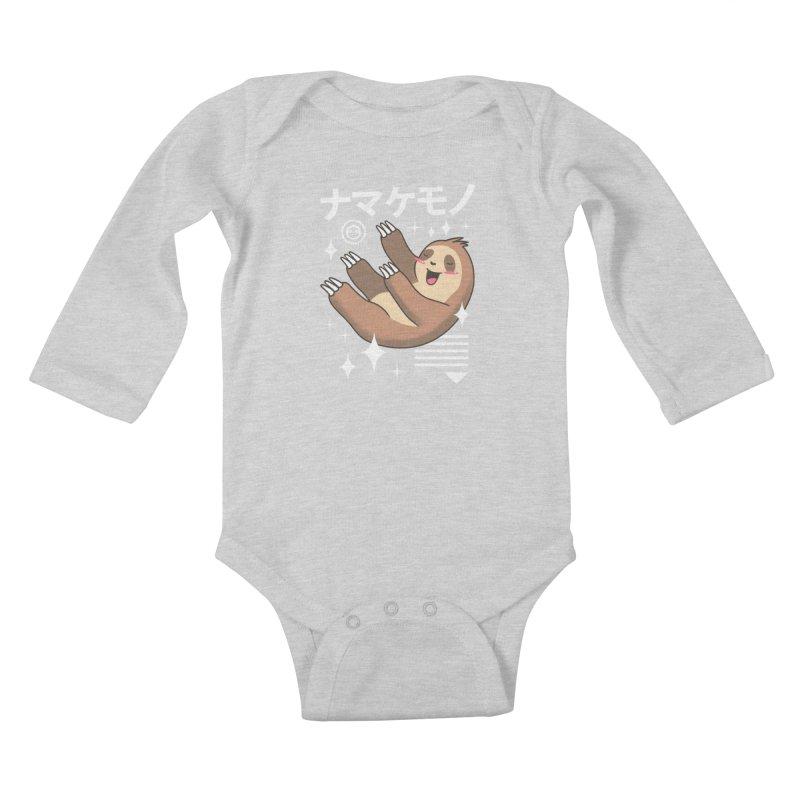 Kawaii Sloth Kids Baby Longsleeve Bodysuit by vincenttrinidad's Artist Shop