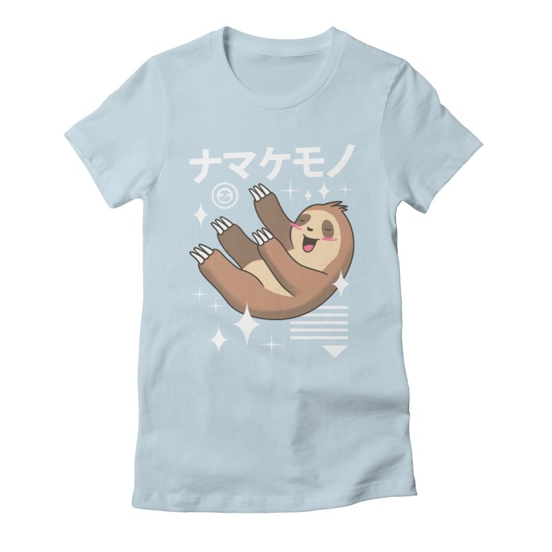 Kawaii Sloth Women's Fitted T-Shirt by vincenttrinidad's Artist Shop
