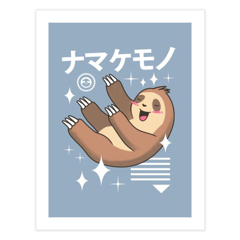 Kawaii Sloth Home Fine Art Print by vincenttrinidad's Artist Shop