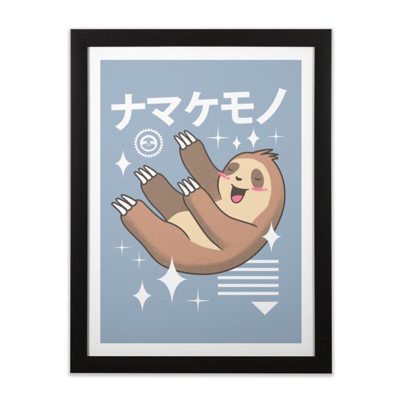 Kawaii Sloth Home Framed Fine Art Print by vincenttrinidad's Artist Shop