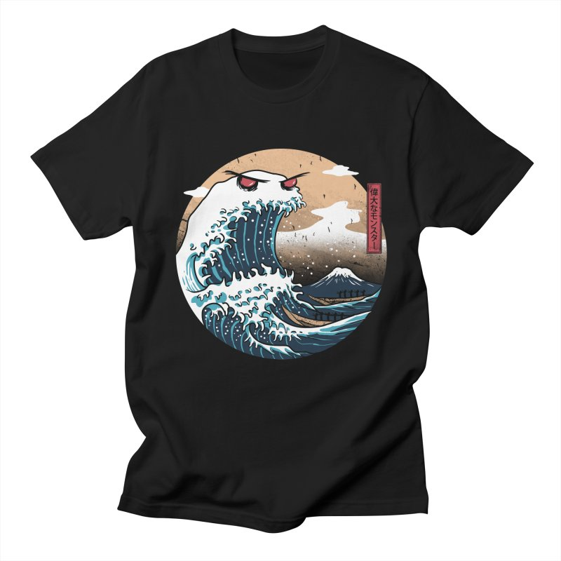 The Great Monster of Kanagwa in Men's T-Shirt Black by vincenttrinidad's Artist Shop
