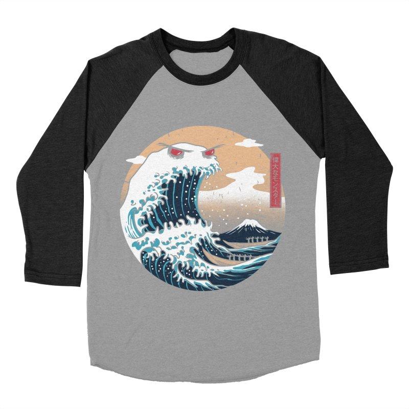 The Great Monster of Kanagwa Men's Baseball Triblend T-Shirt by vincenttrinidad's Artist Shop