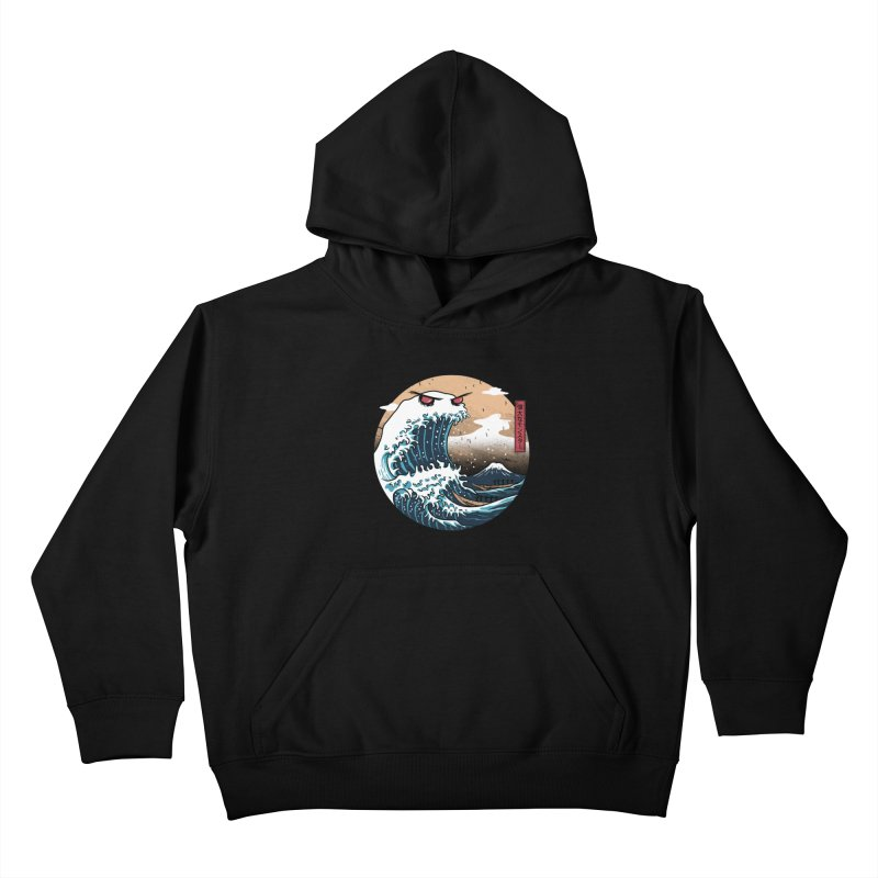 The Great Monster of Kanagwa Kids Pullover Hoody by vincenttrinidad's Artist Shop