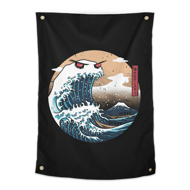 The Great Monster of Kanagwa Home Tapestry by vincenttrinidad's Artist Shop