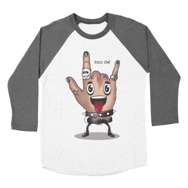 Rock On Men's Baseball Triblend T-Shirt by vincenttrinidad's Artist Shop