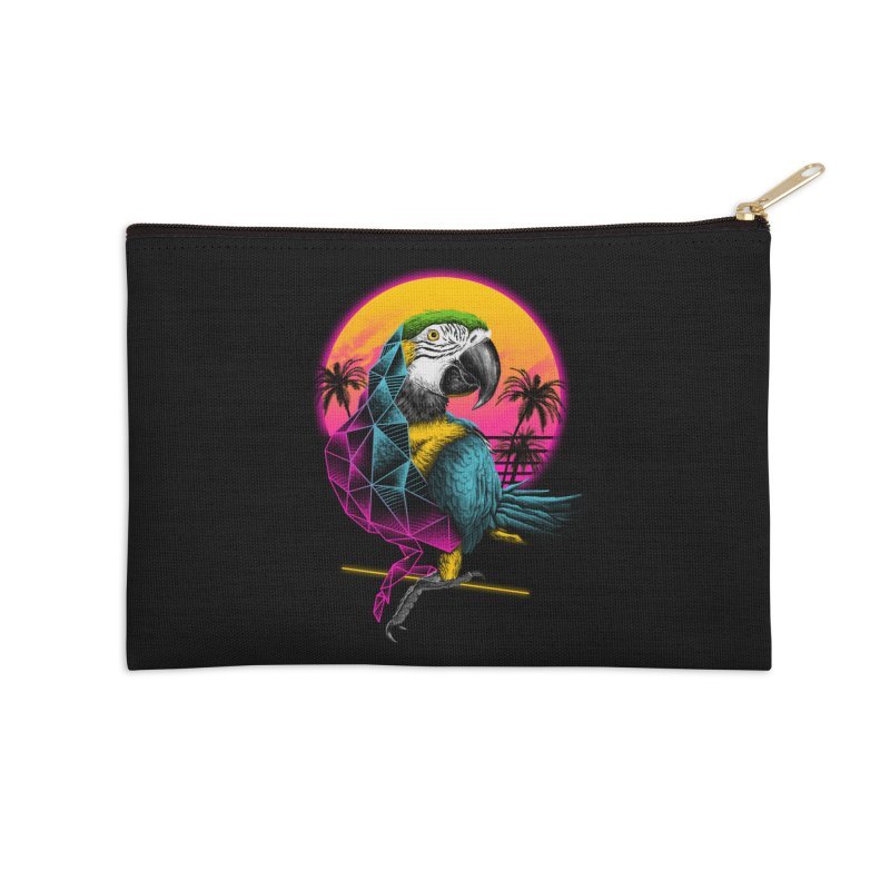 Rad Parrot Accessories Zip Pouch by vincenttrinidad's Artist Shop