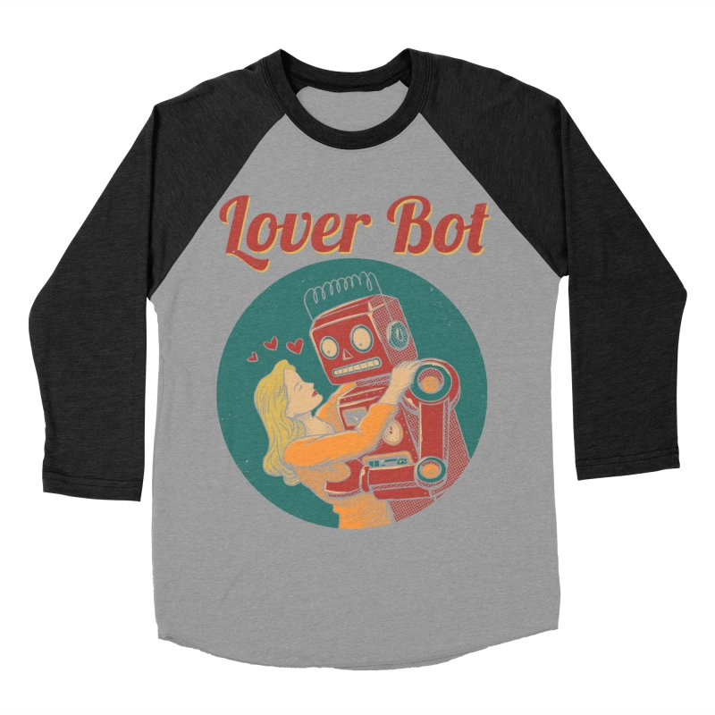 Lover Bot Men's Baseball Triblend T-Shirt by vincenttrinidad's Artist Shop