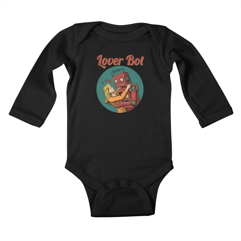 Lover Bot Kids Baby Longsleeve Bodysuit by vincenttrinidad's Artist Shop