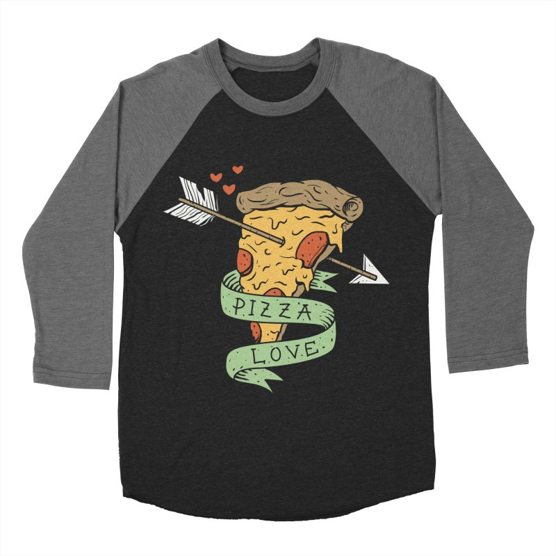Pizza Love Men's Baseball Triblend T-Shirt by vincenttrinidad's Artist Shop