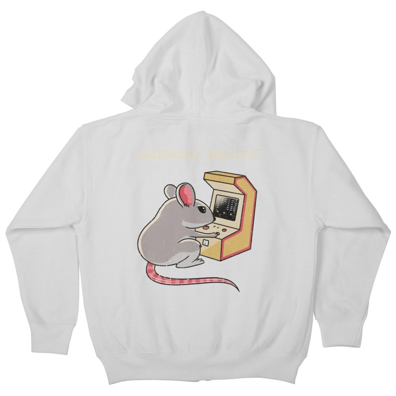 Gaming Mouse Kids Zip-Up Hoody by vincenttrinidad's Artist Shop