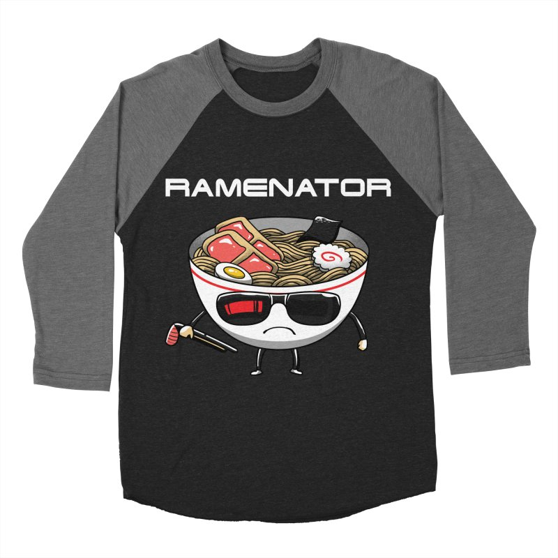 Ramenator Men's Baseball Triblend T-Shirt by vincenttrinidad's Artist Shop
