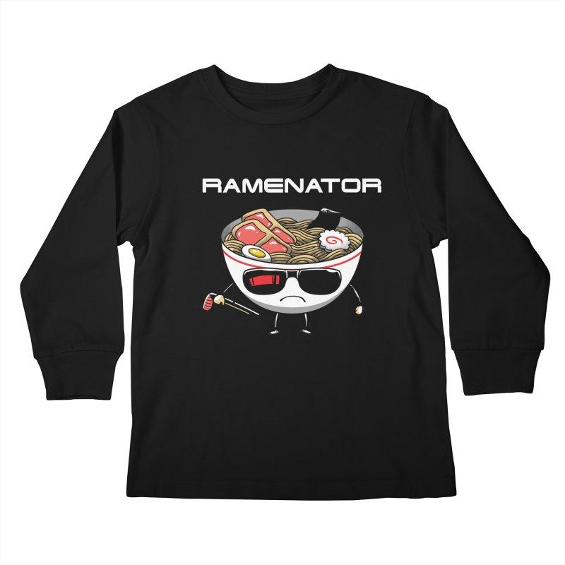 Ramenator Kids Longsleeve T-Shirt by vincenttrinidad's Artist Shop