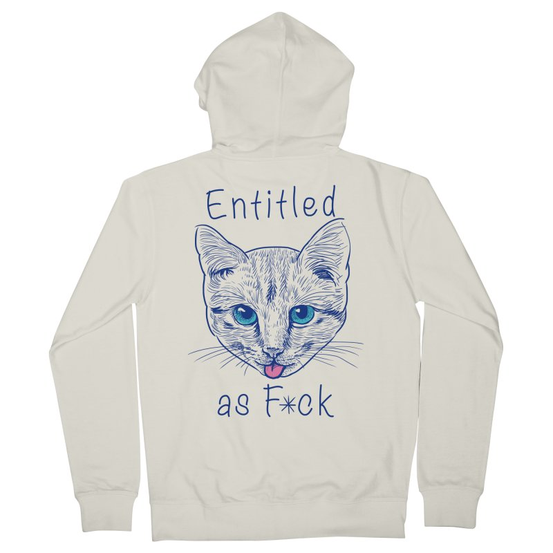 Entitled Cat Men's Zip-Up Hoody by vincenttrinidad's Artist Shop