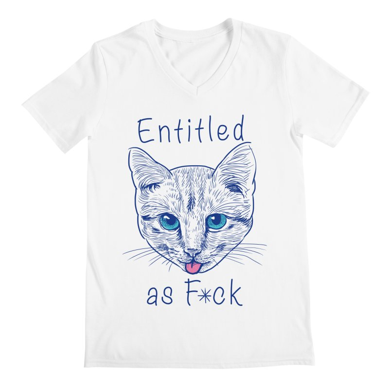 Entitled Cat Men's V-Neck by vincenttrinidad's Artist Shop