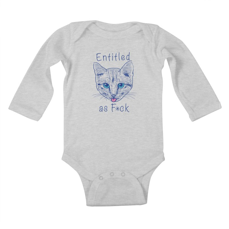 Entitled Cat Kids Baby Longsleeve Bodysuit by vincenttrinidad's Artist Shop