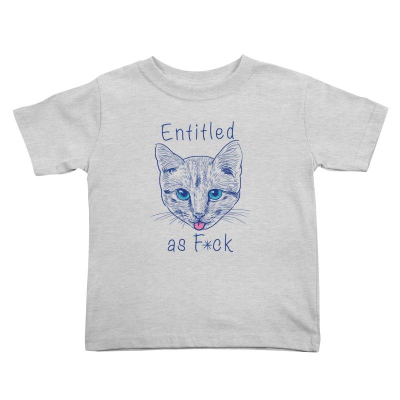 Entitled Cat Kids Toddler T-Shirt by vincenttrinidad's Artist Shop