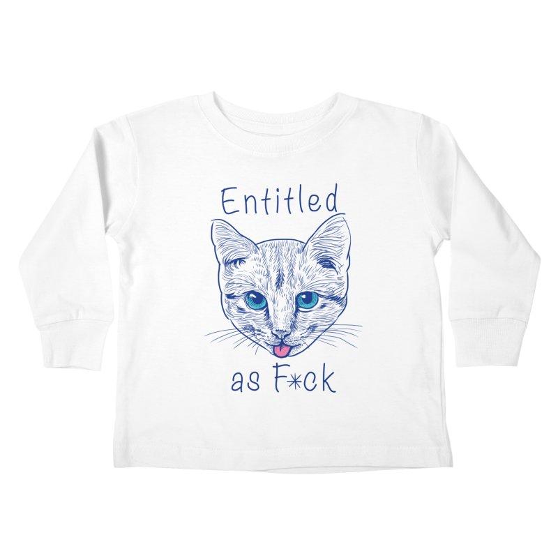 Entitled Cat Kids Toddler Longsleeve T-Shirt by vincenttrinidad's Artist Shop