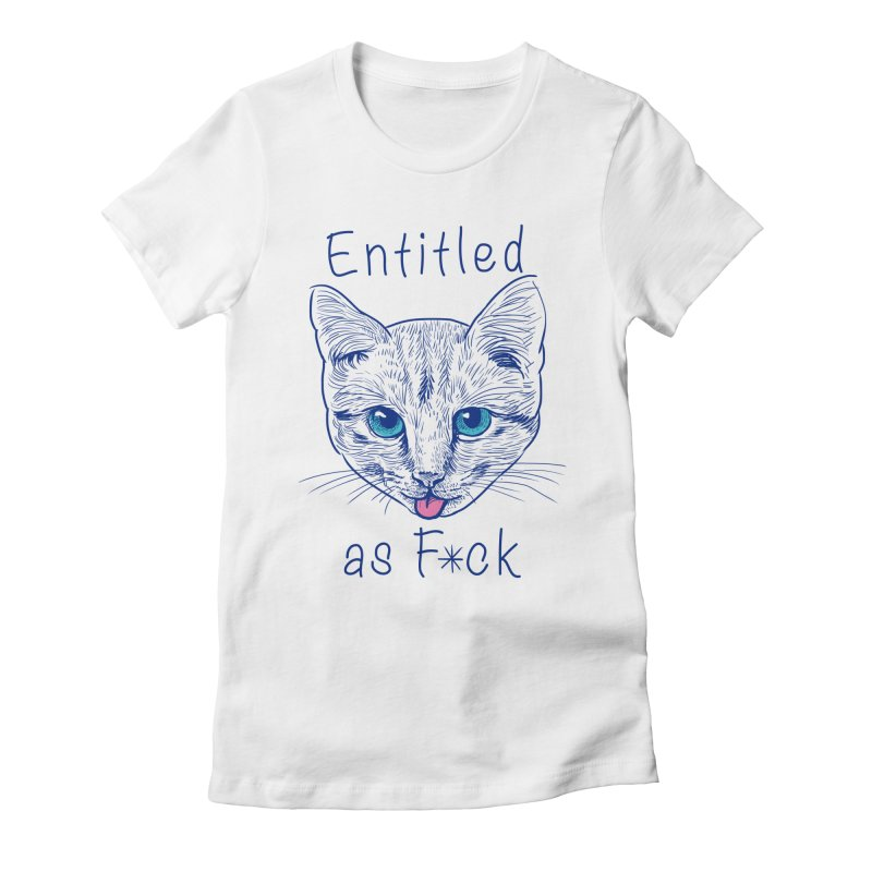 Entitled Cat Women's Fitted T-Shirt by vincenttrinidad's Artist Shop
